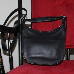 Vintage Coach Janice's legacy shoulder black purse